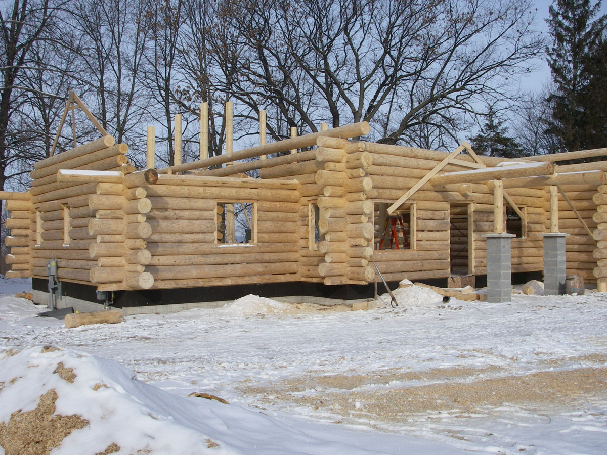 exterior homes log perspective kits cabins aspen cabin builders min conestoga